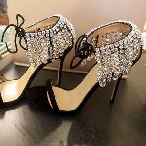 NEW!Giuseppe Zanotti Carrie Crystal Heels with box